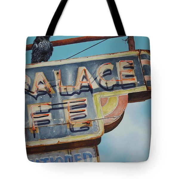 Raven And Palace Tote Bag
