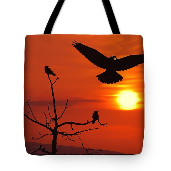 Raven Maniac Tote Bag by Ron Day