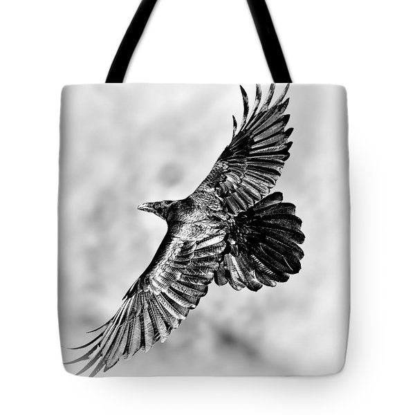 Raven Of Death Valley Tote Bag