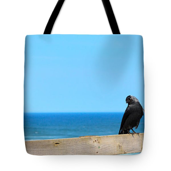Tote Bag featuring the photograph Raven Watching by Peta Thames