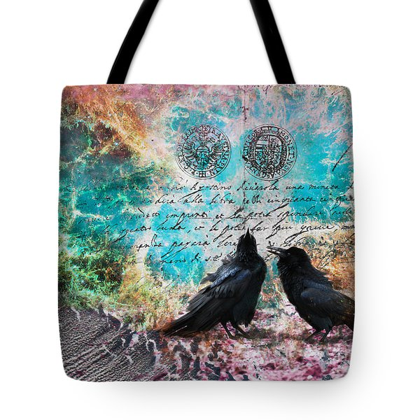 Crow Whispers In The Nowhere Tote Bag