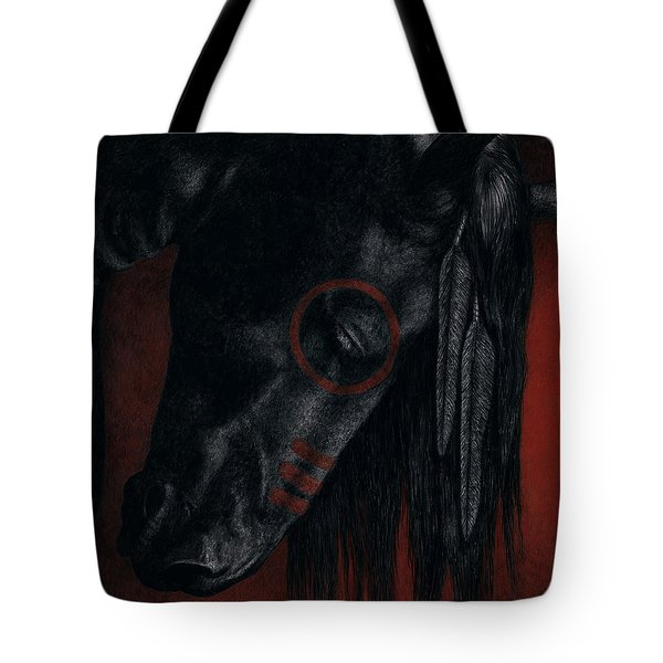 Tote Bag featuring the painting Raven Wing by Pat Erickson