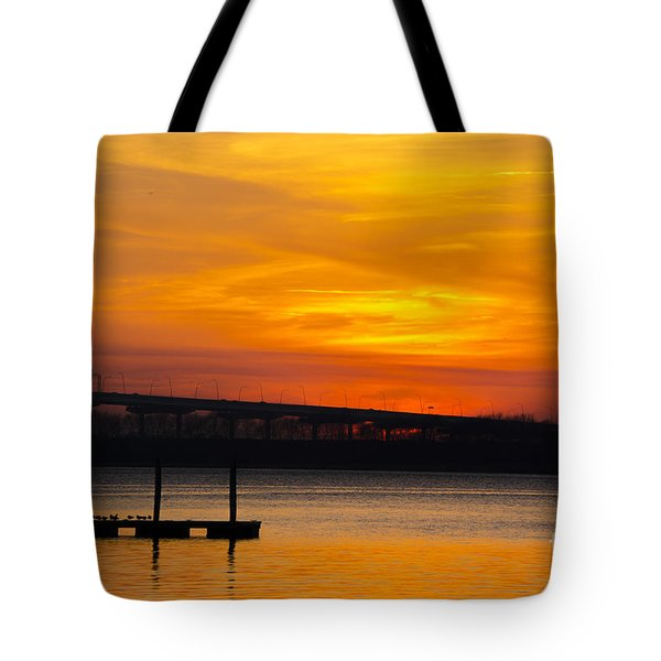 Orange Blaze Tote Bag by Dale Powell
