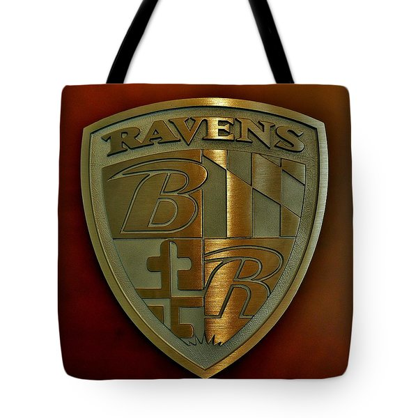 Ravens Coat Of Arms Tote Bag by Robert Geary