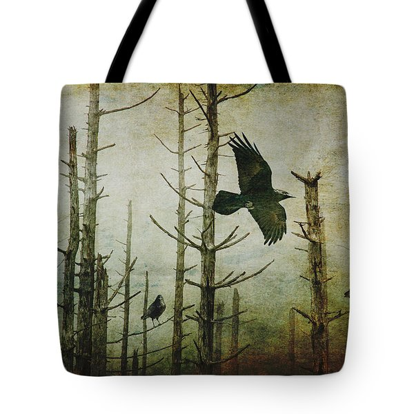Ravens Of The Mist Artistic Expression Tote Bag by Randall Nyhof