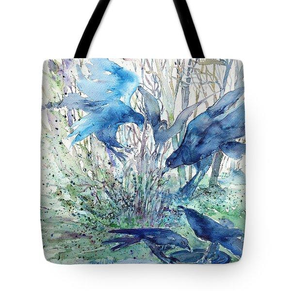 Ravens Wood Tote Bag by Trudi Doyle