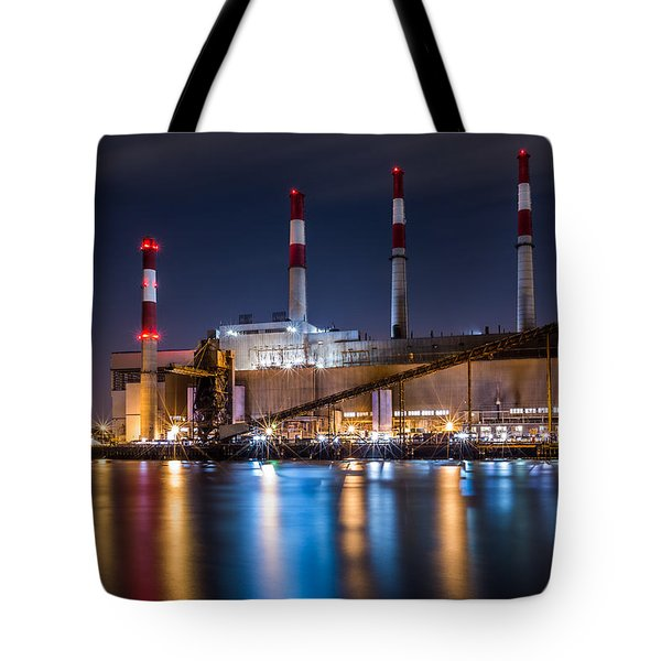 Tote Bag featuring the photograph Ravenswood Generating Station by Mihai Andritoiu