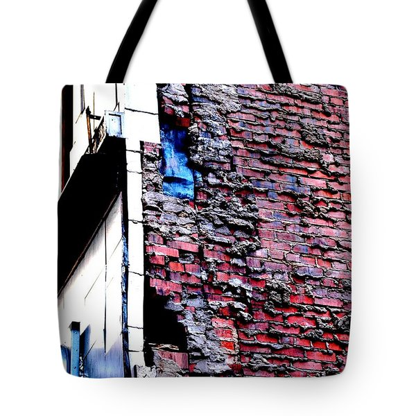 Tote Bag featuring the photograph Raw Brick Bones by Christiane Hellner-OBrien