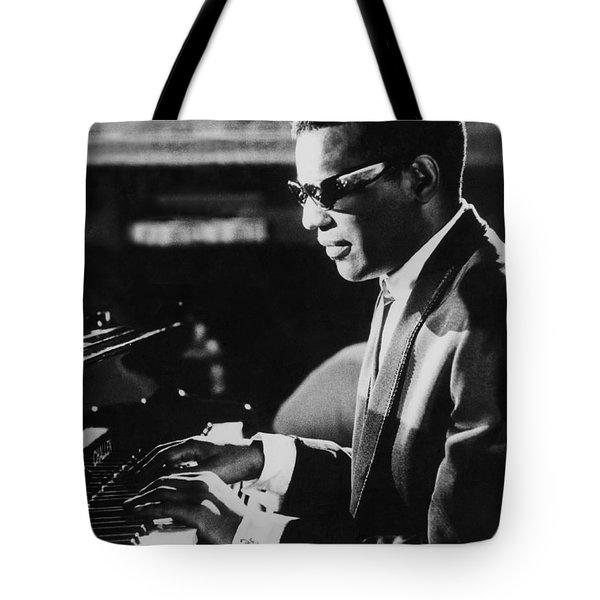 Ray Charles At The Piano Tote Bag
