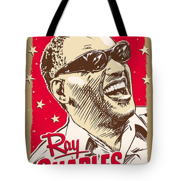 Ray Charles Pop Art Tote Bag