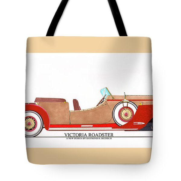 Ray Dietrich Packard Victoria Roadster Concept Design Tote Bag by Jack Pumphrey
