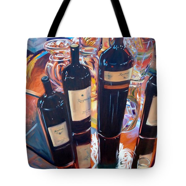 Raymond Vineyards Crystal Cellar Tote Bag by Donna Tuten