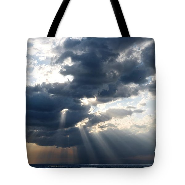 Rays And Clouds Tote Bag