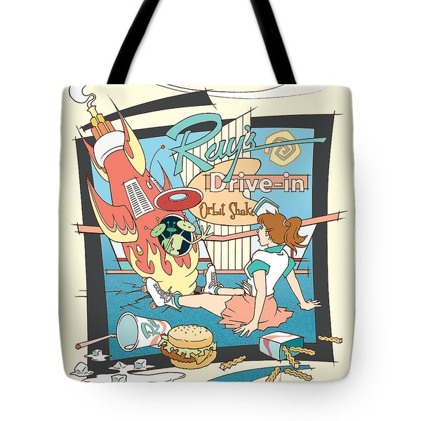 Ray's Drive-in - Brunette Tote Bag