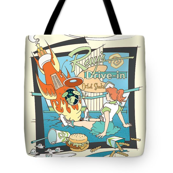 Ray's Drive-in - Redhead Tote Bag