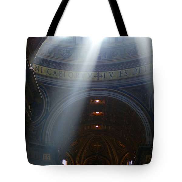 Rays Of Hope St. Peter's Basillica Italy  Tote Bag