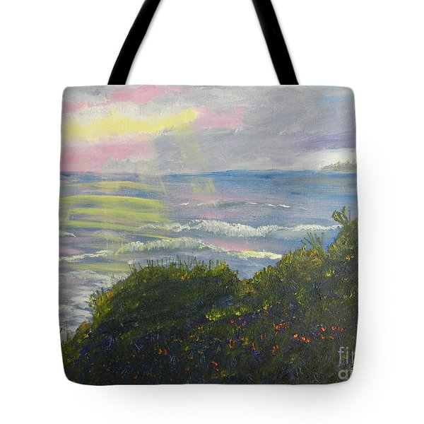 Rays Of Light At Burliegh Heads Tote Bag by Pamela  Meredith