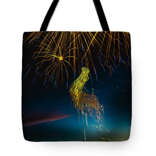 Rays Of Light From Above Tote Bag by Robert Bales