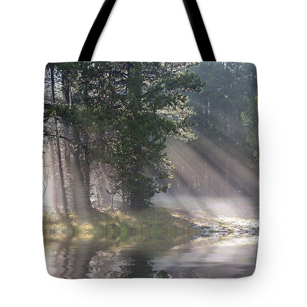 Rays Of Light Tote Bag by Shane Bechler