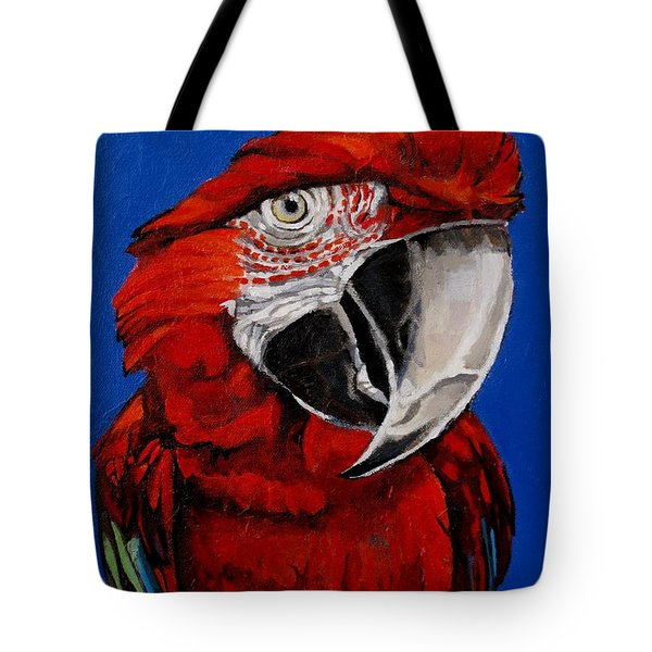 Razzy Red - Bird- Macaw Tote Bag