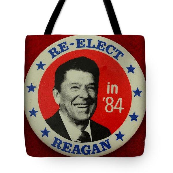 Re-elect Reagan Tote Bag by Paul Ward
