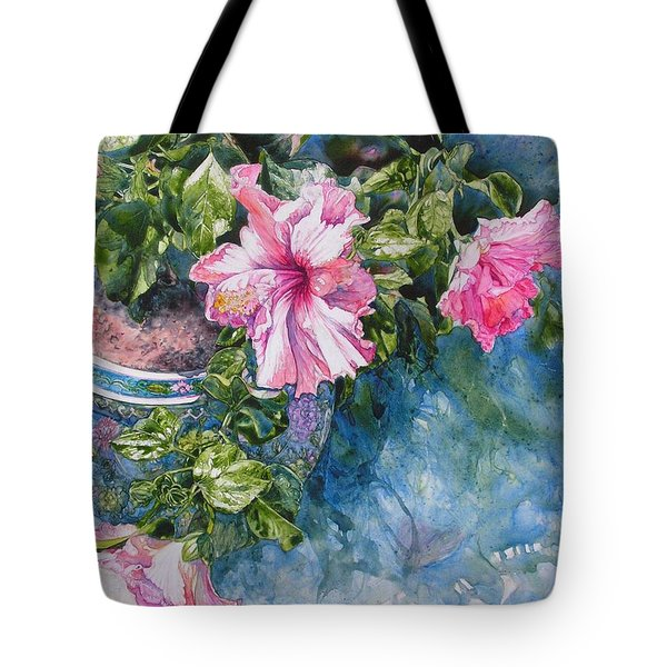 Reaching For Pretty Pink Tote Bag