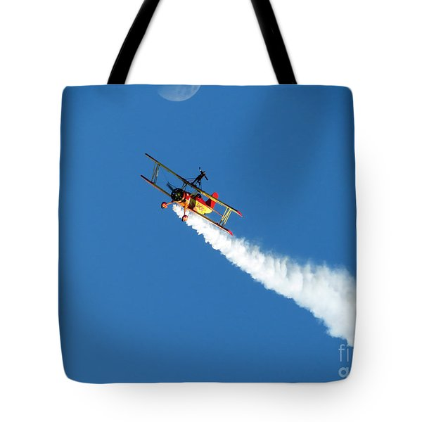 Reaching For The Moon. Oshkosh 2012. Postcard Border. Tote Bag