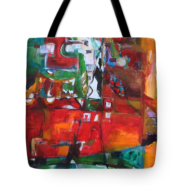 Reaching Out Tote Bag by Becky Kim