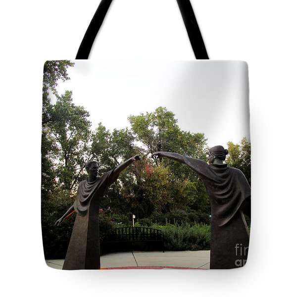 Reaching Out Two Tote Bag by Tina M Wenger