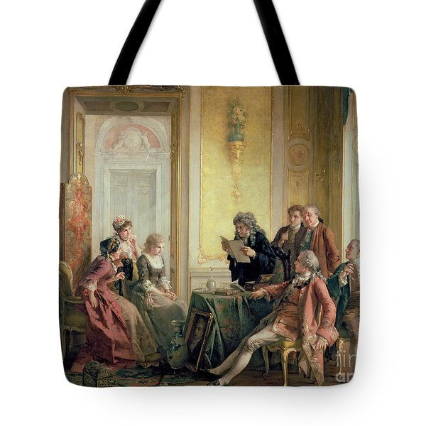 Reading The Will Tote Bag by Otto Erdmann