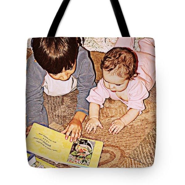 Story Time Tote Bag by Valerie Reeves