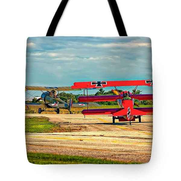 Ready For Combat Tote Bag by Steve Harrington