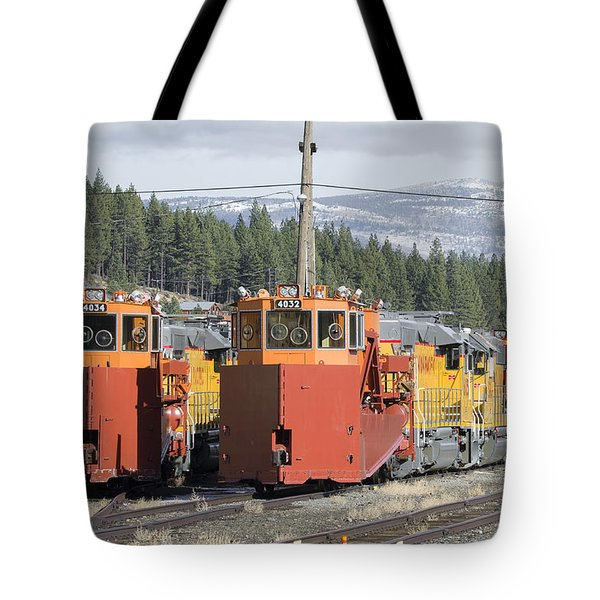 Ready For More Snow At Donner Pass Tote Bag