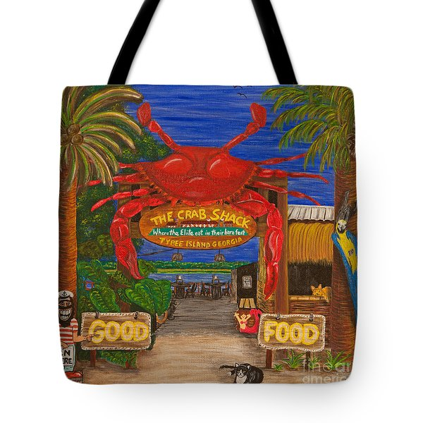Ready For The Day At The Crab Shack Tote Bag