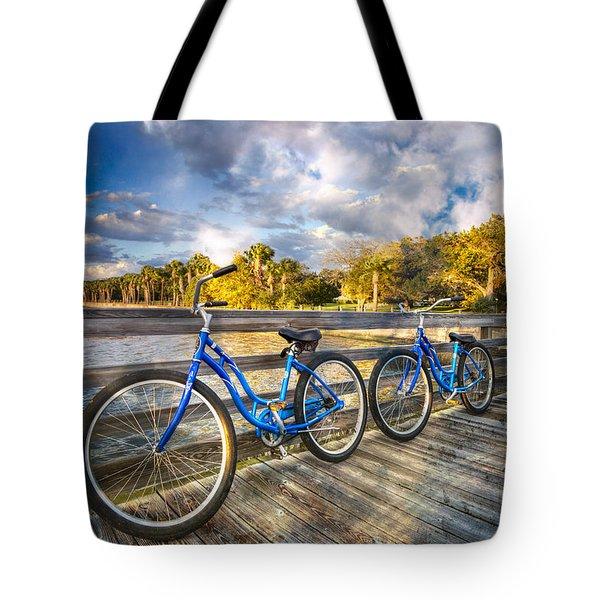 Ready To Ride Tote Bag by Debra and Dave Vanderlaan