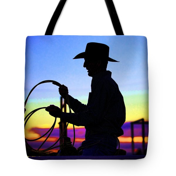 Ready To Rope I Tote Bag by Toni Hopper