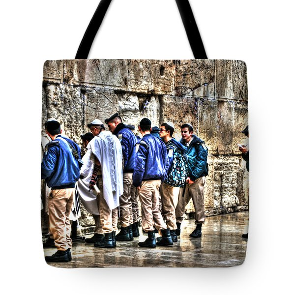 Tote Bag featuring the photograph Real Homeland Security In Israel by Doc Braham