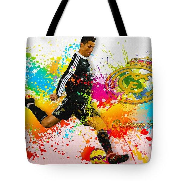 Real Madrid - Portuguese Forward Cristiano Ronaldo Tote Bag
