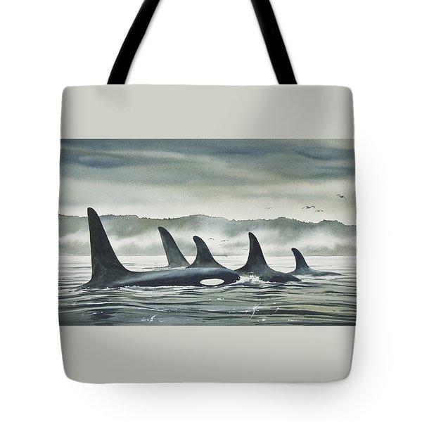 Realm Of The Orca Tote Bag by James Williamson