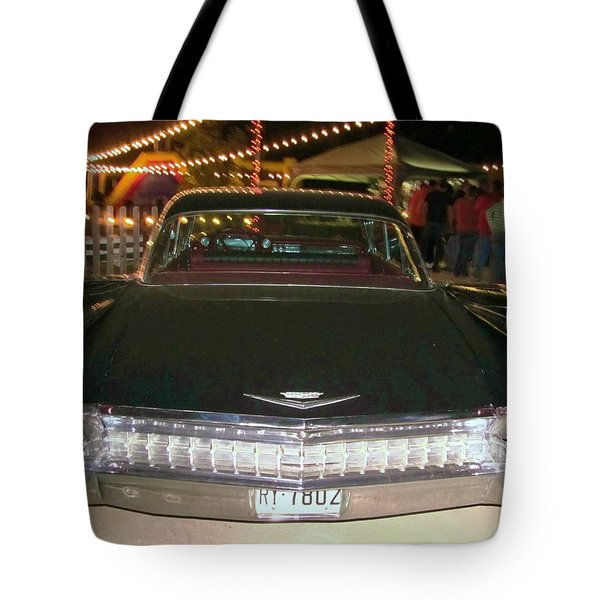 Rear View Black And Chrome Beauty Tote Bag by Donna Wilson