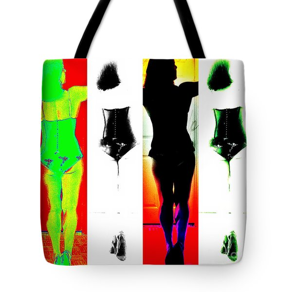 Rear View Reflections Tote Bag by Lilliana Mendez