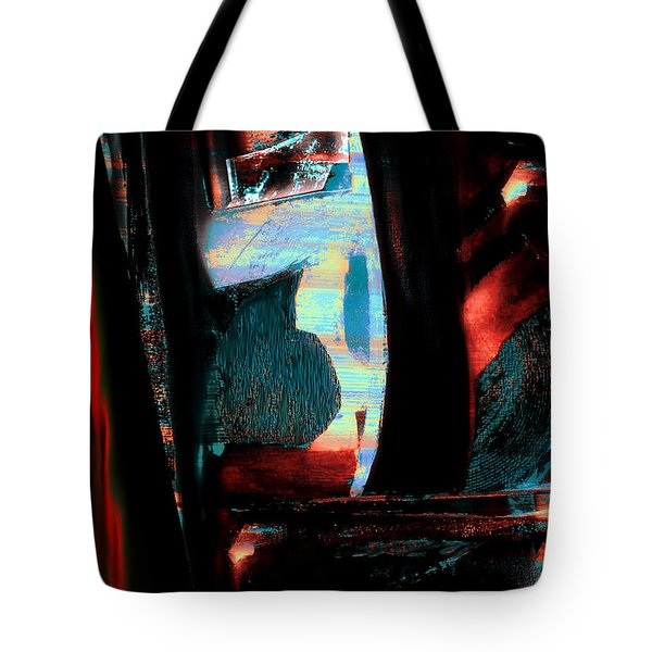 Tote Bag featuring the painting Reasons- Ewf Series 5 by Yul Olaivar