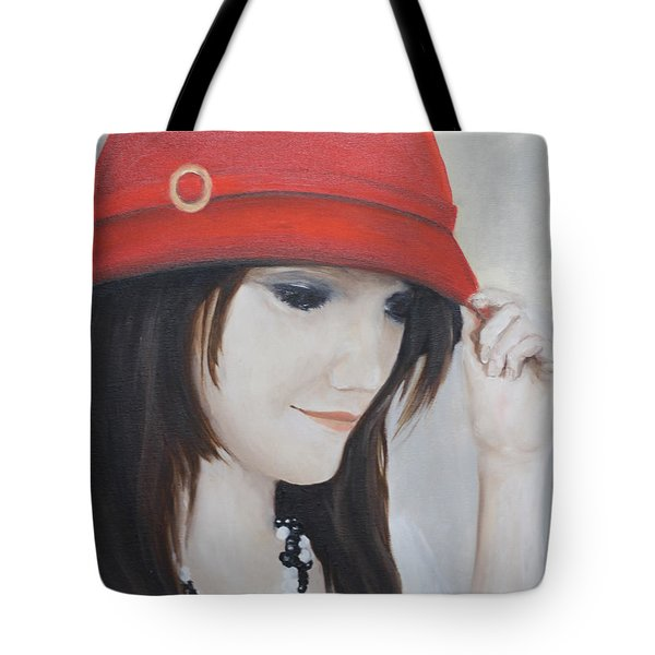 Rebecca's Red Hat Tote Bag