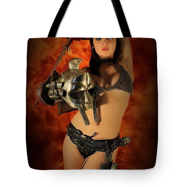 Rebel Fire Tote Bag