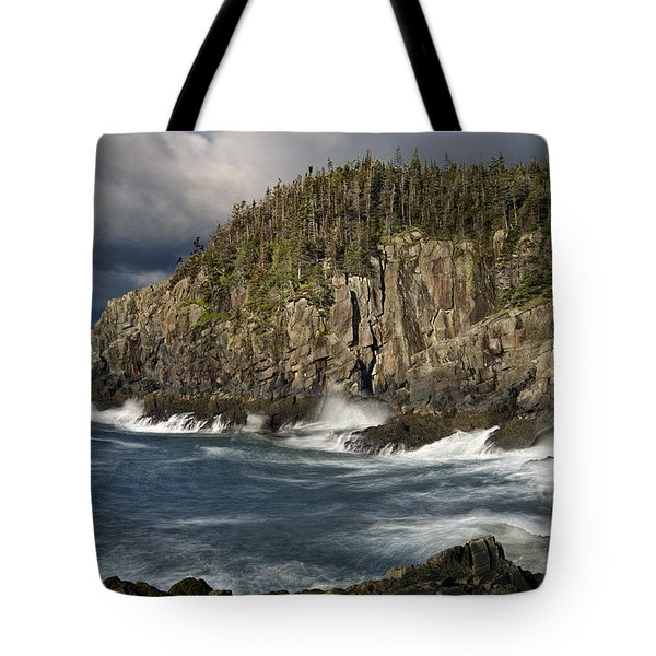 Receding Storm At Gulliver's Hole Tote Bag