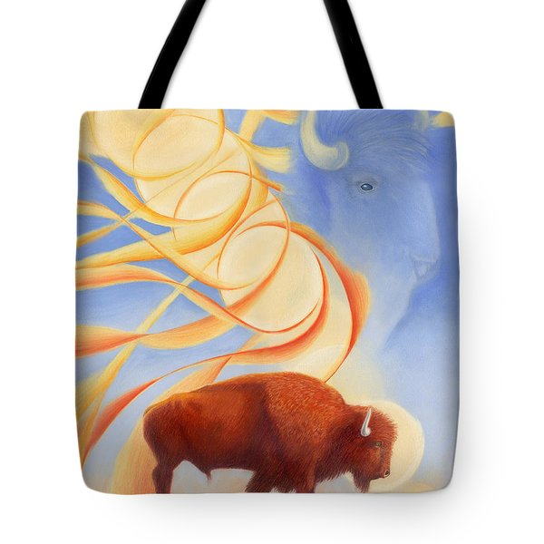 Receiving Buffalo Tote Bag by Robin Aisha Landsong