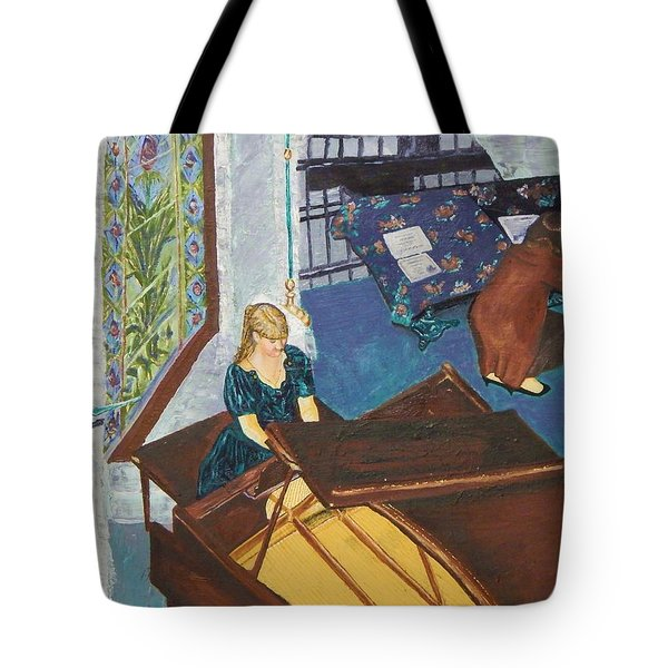 Recital Rehersal Tote Bag by Betty Compton