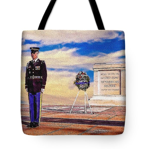 Recitation Of The Requirements Of Honor Guards Tote Bag