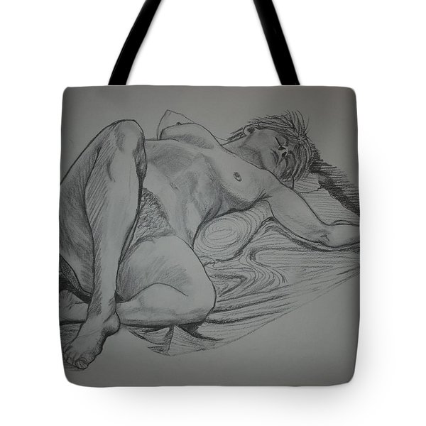 Reclining Female Nude Tote Bag