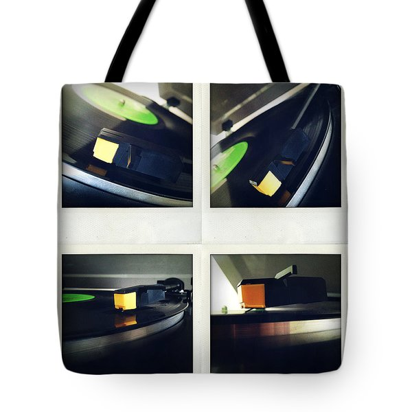 Record Player Tote Bag by Les Cunliffe